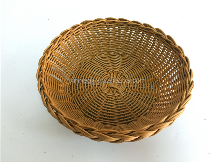 lace plastic wicker woven basket