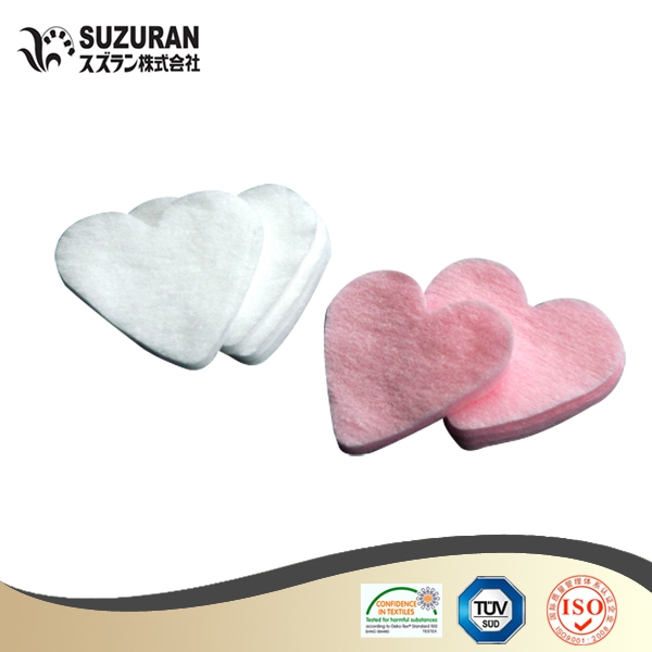 Suzuran Lilybell heart cotton puff 60pcs cute cotton pads
