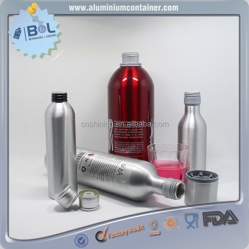 High Quality Aluminum Bottle Alcohol Beverages