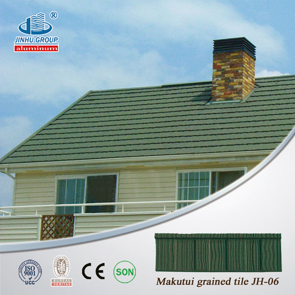 top value colorful stone metal roofing tiles