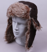 good quality faux fur trapper hat earflap bomber hat