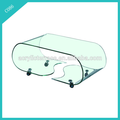 2011408134 Clear Lucite Coffee Table With wheels