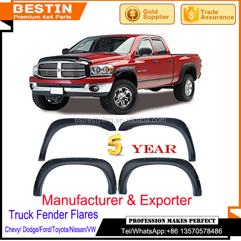 Manufaturer and wholesales FENDER FLARES for Dodge Ram 02-08 4x4 accessories