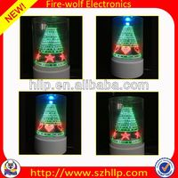 2014 hot sale wholesale led 3D usb christmas tree dog toy manufacture