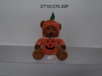 Classic and Cute Halloween Plush Teddy Bear Dressing Pumpkin Shape Coat