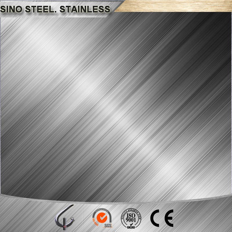 ASTM 201 304 hairline 2B plain polished stainless steel plate
