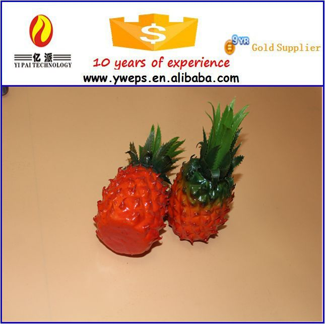 Plastic pineapple decorations/artificial fake pineapple fruit for kids