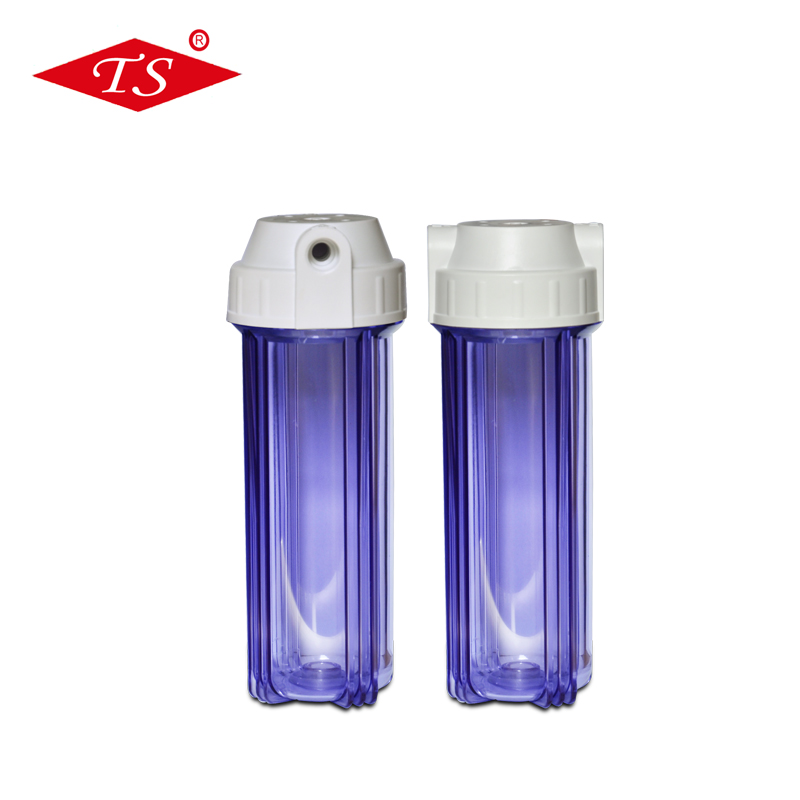 Reverse Osmosis 10 inch clear water filter cartridge housing