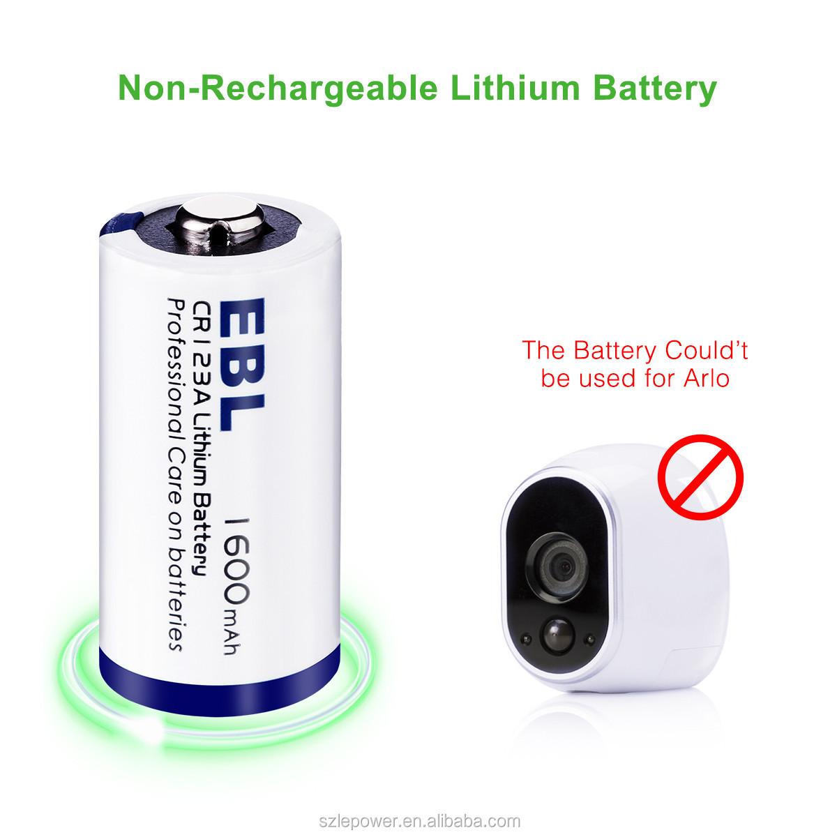 Eco-friendly 3V CR123A Lithium Battery 1600mah 4 Packs with Battery Case