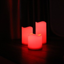Electric church votive led flameless candle