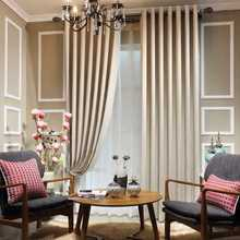 simple curtain design for hall