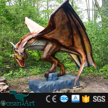 amusement dragon animatronic dragon model in park