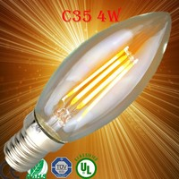 2W High Power LED Candle Bulbs E14 Base Lamp Filament LED Blubs Glass Material Epistar Chips Copper Substrate