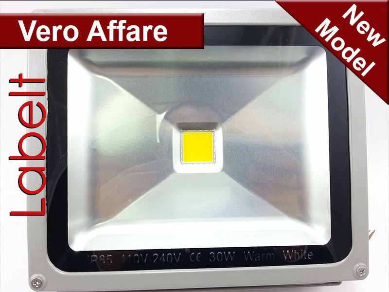 OUTDOOR LED FLOODLIGHT 30W WORM WHITE / FARO LED 30W BIANCO CALDO