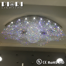 Beautiful modern beaded home decoration crystal ceiling light