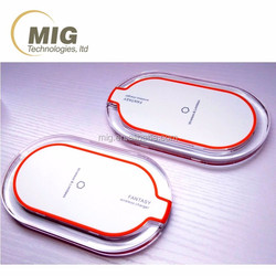 QI Wireless Charger Transmitter Pad for iPhone 4 5 6, 3 coils portable charger for Samsung HTC MI Cell Phone