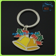 bell shape metal key ring