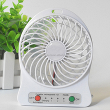 Newest 18650 lithium battery Handheld portable usb mini rechargeable fan with LED