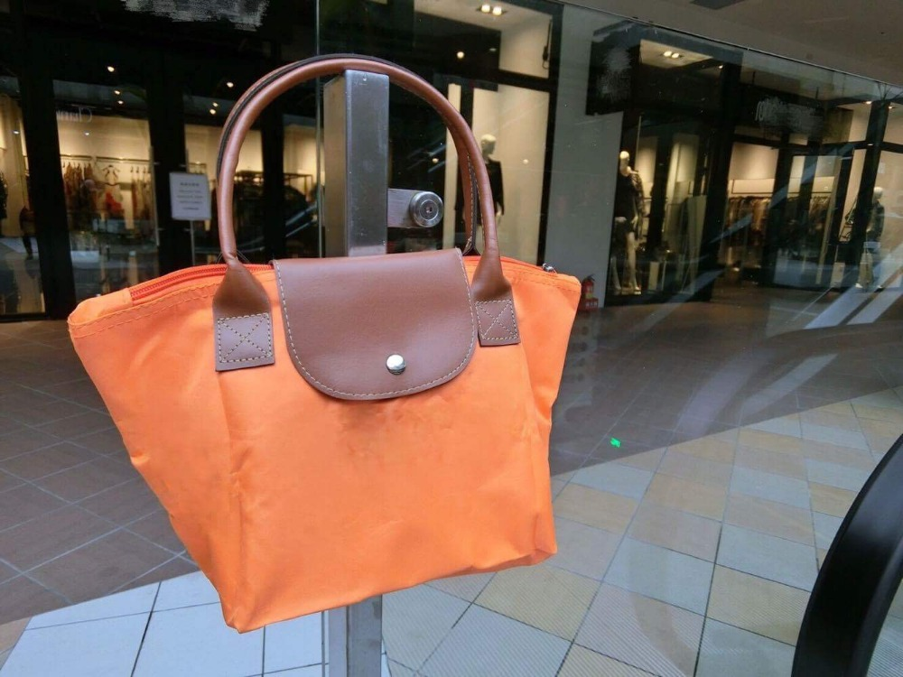 China suppliers high quality tote fashion button folding shopping bag