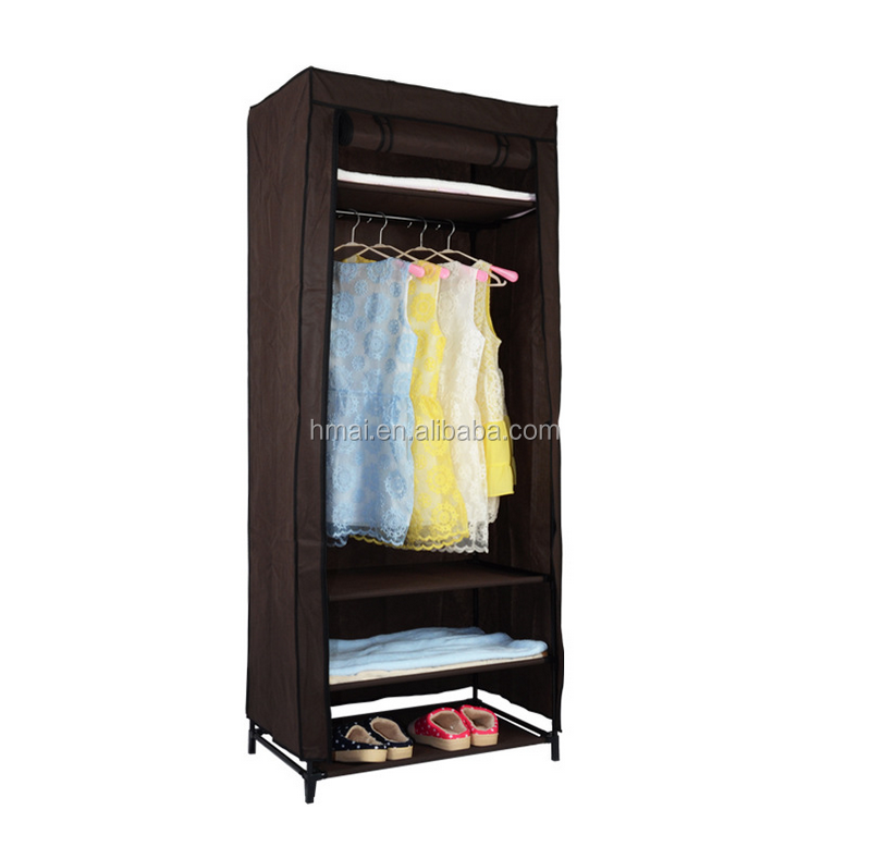 Hot Sale Coffee Stable Portable DIY Assemble Half Height Wardrobe