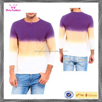 2016 Cheap Fashion Men Purple & White Tie Dye T -Shirts Wholesale