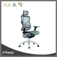 Elegant office furniture for big and tall people with adjustable backrest