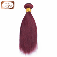 "Wholesale price Brazilian remy hair weaving 99j silky straight 8""-30"" cheap Brazilian human hair weave"