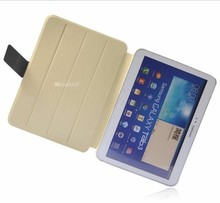 Durable leather smart cover for samsung galaxy tab 3 10.1 p5200 andriod tablet stand case