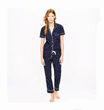 short sleeve 100% cotton women cotton pajamas ladies sexy short pajamas