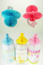 Cute Special Pack Of Baby Shower Photo Props, Jumbo Pacifier And Nursing Bottle Paper Honeycomb Balls