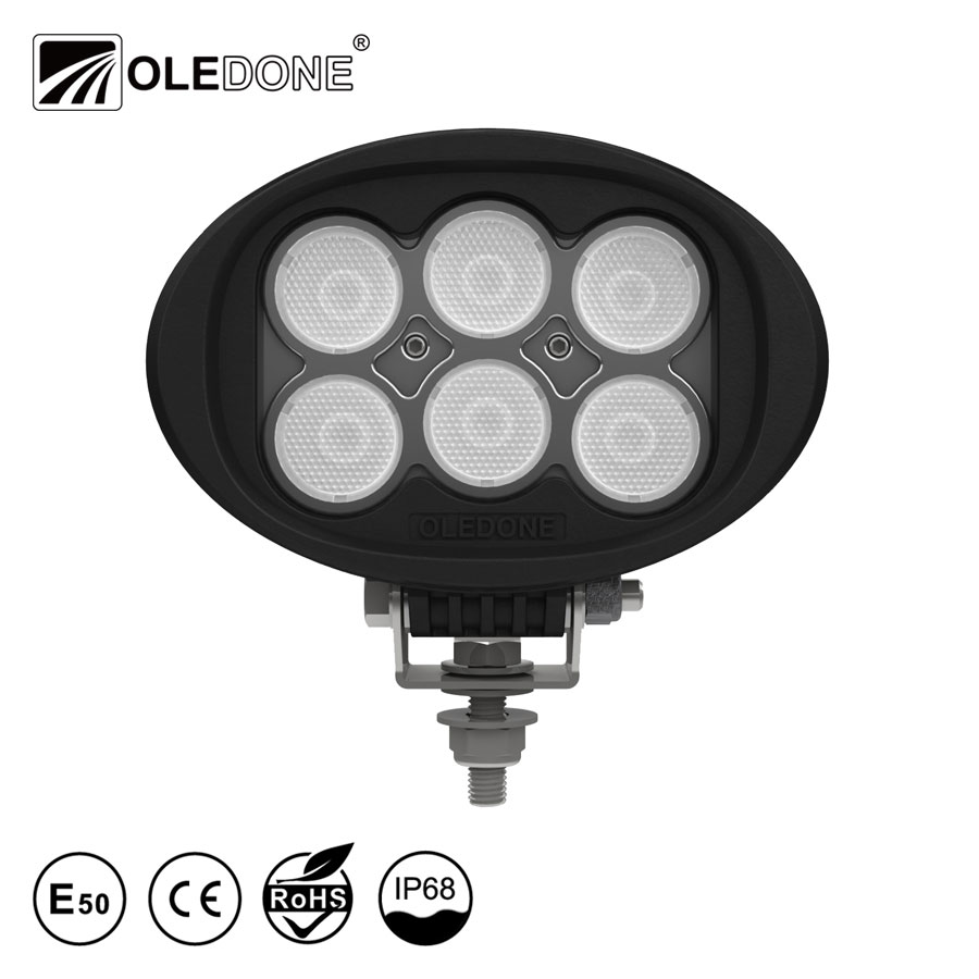 "Factory direct offer Oledone Profi winner 6"" oval 60W agricultural automotive trailer motorcycle tractor truck led work light"