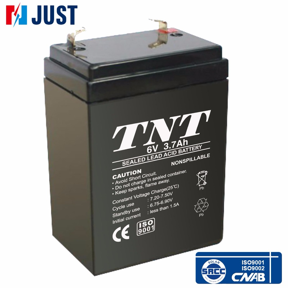 6v 3.7ah mf sealed lead acid storage agm battery