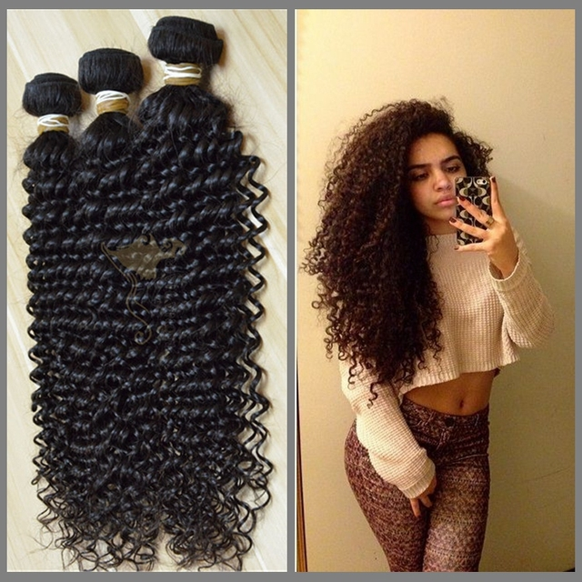 One donor one bundle easy to be highligten Brazilian kinky curly soft and smooth cuticle virgin hair