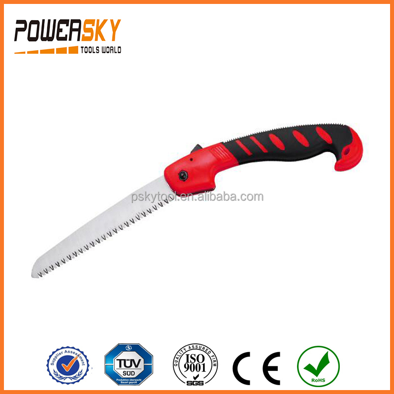 "10"" 65Mn Folding Saw with Bi-color Plastic Handle"