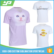 Guangzhou Factory Yuepai OEM Fashion Men Short Sleeve Cotton Round Neck Breathable Sublimation Custom tshirt