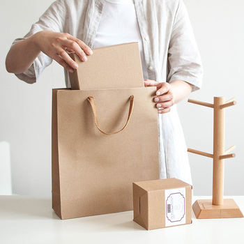 Professional handle kraft paper bag