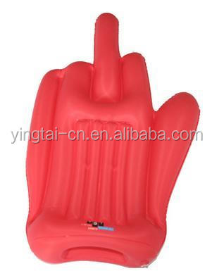 2017 popular cheering game giant pvc inflatable hand/inflatable middle finger hand /inflatable hand