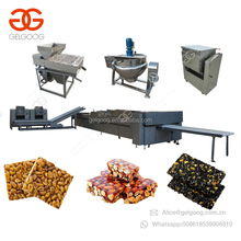 Quality Granola Chikki Production Line Peanut Brittle Energy Fruits Snack Nut Bar Nougat Muesli Candy Bar Making Machines Price