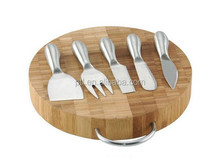 cheese board with 5pcs cheese knives--CKW522