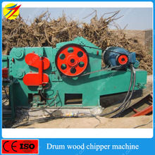 Electric drum wood chip crusher machine