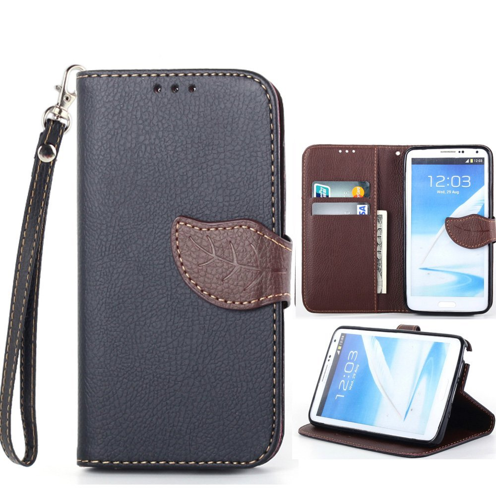 Whole Sale Luxury Wallet Book Style Leather Case Cover with Strap For Samsung Galaxy Note 3