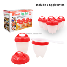 2018 Shenzhen New design Food Grade Boiled Silicone Egg Cooker Without Shell AS Seen On TV