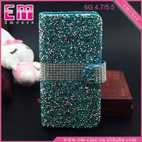 Luxury Full Glitter Cover Phone Leather Diamond Case For iPhone 6/6 Plus