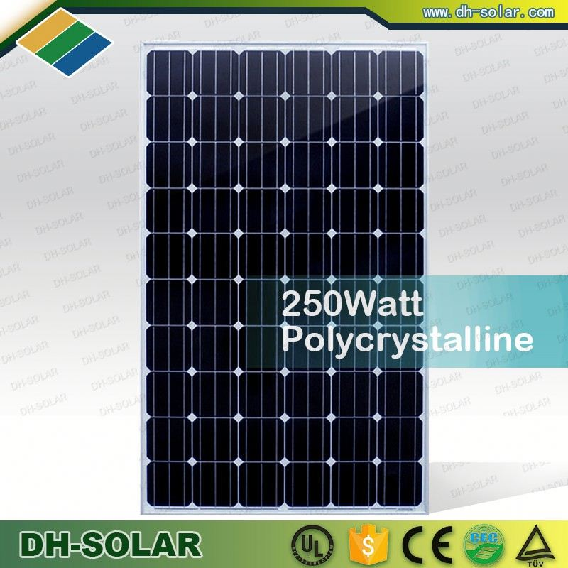 250w Mono Solar Panel / Mono-crystalline Silicon modules