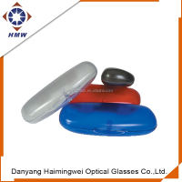 custom ABS AS matt transparent plastic reading glasses case, hard eyewear case