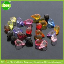 Wholesale Fashion Jewelry Accessories Acrylic Faceted Teardrop Cheap Clear Plastic Beads