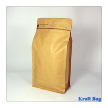Brown kraft paper SOS bag grease-proof takeout food safety paper bag