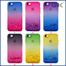 [GGIT] Double Color Gradient Liquid Quicksand TPU Cell Phone Case For IPhone 7 Celulares Cover, For iPhone