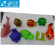 New PVC creative cute animal Baby bath toys squeezed called baby toys