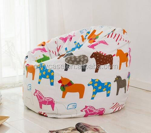Horse print custom printed people lazy lounger bean bag, outdoor furniture sun lounger